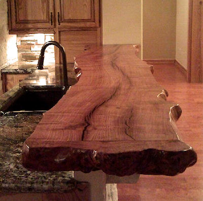 Mesquite countertops mesquite hardwood countertops for Natural edge wood countertops
