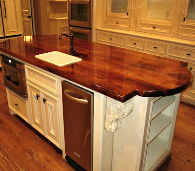 Mesquite Wood Kitchen Island