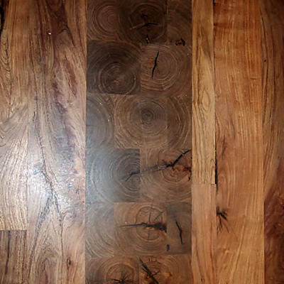 Mesquite Floor End Grain