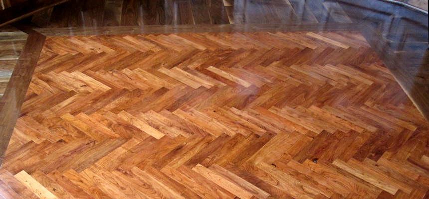 Mesquite Flooring - Herringbone Pattern - Mesquite Flooring - Mesquite Hardwood Flooring - Sekula Sawmilling