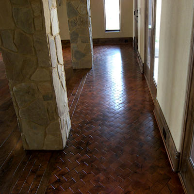 Mesquite Flooring - Beveled End-Grain