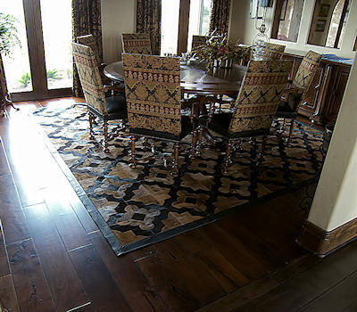 Mesquite Wood Flooring - Hardwood Dining Room Mesquite Floor